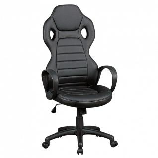 Drehstuhl Bürostuhl Chefsessel NAPOLI - Schwarz