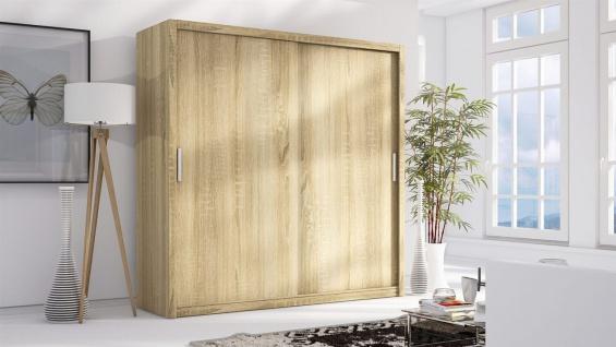 Schiebetürenschrank Schrank LUND Sonoma matt 200x215 cm