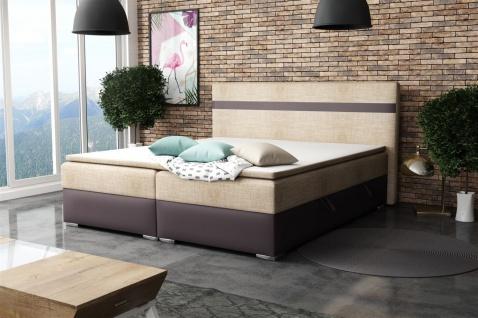 Boxspringbett Schlafzimmerbett DAWID 160x200cm inkl.Bettkasten