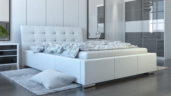 Polsterbett Bett Doppelbett PINO Deluxe 160x200cm inkl.Bettkasten