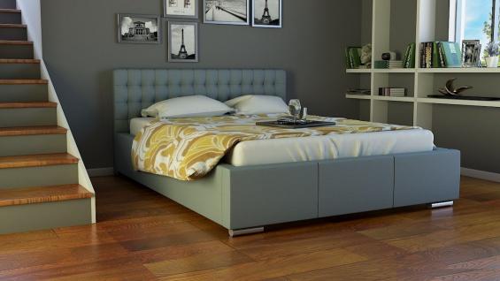 Polsterbett Bett Doppelbett DAMASO 140x200cm inkl.Bettkasten