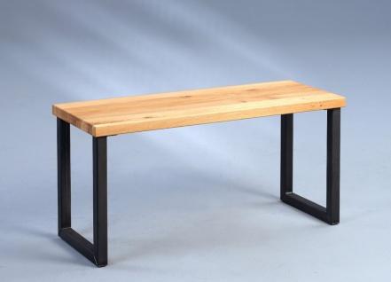 Sitzbank Bank - Riza 2 - Wildeiche Massivholz geölt 80 x 40 cm