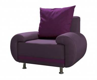 Sessel Clubsessel MIKA in Polyesterstoff Violett