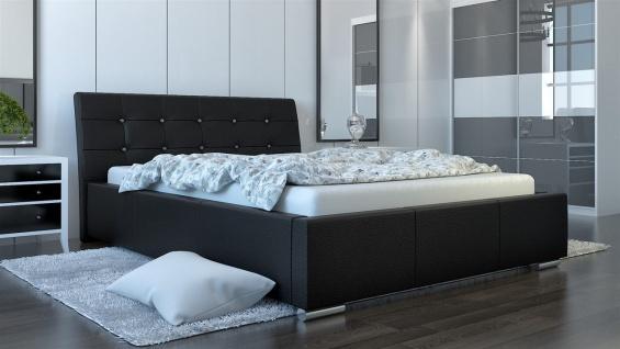 Polsterbett Bett Doppelbett PINO Deluxe 180x200cm inkl.Bettkasten