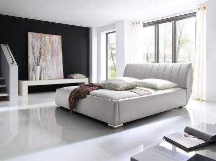 Polsterbett Bett -WIEN - 200x200cm inkl. Bettkasten+Lattenroste Weiss