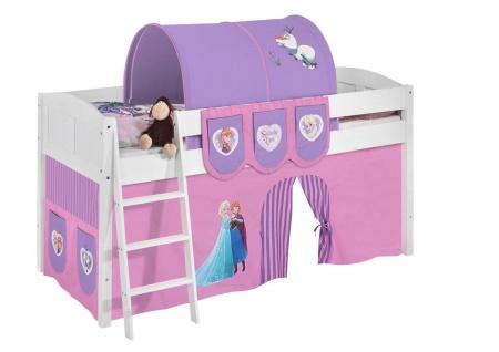Spielbett Bett -LANDI - FROZEN 1 -Teilbar - Kiefer Weis -mit Vorhang - Vorschau 2
