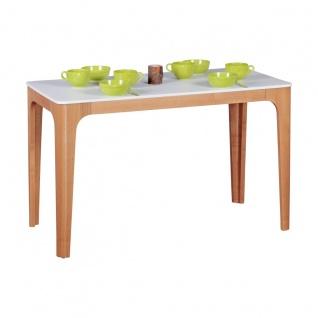 Esstisch Tisch - MAGNUS - Vierfußtisch 120x76 cm MDF Weiß lackiert