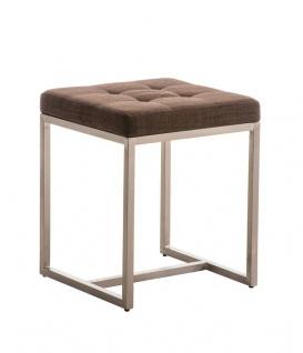 Sitzhocker - BRIT - Schminkhocker Hocker Sessel Stoff Braun 40x40 cm