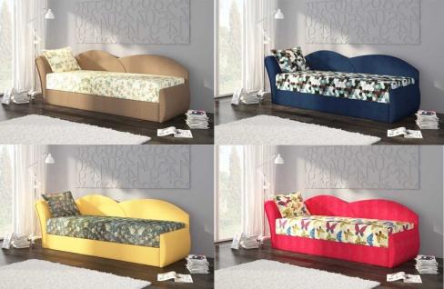 Sofa Schlafsofa inklusive Bettkasten ALINA / L - Gelb / Muster - Vorschau 4