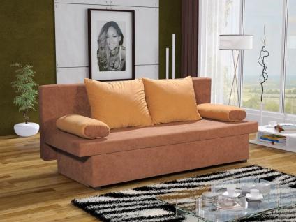 Sofa Schlafsofa inklusive Bettkasten DANNY Sand / Gelb