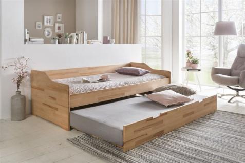 Gästebett Bett SARA Kernbuche massiv Natur geölt 90x200cm