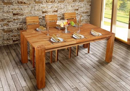 Esstisch HUGO Tisch 200x100 cm Eiche massiv geölt / Fuß 15x15 cm