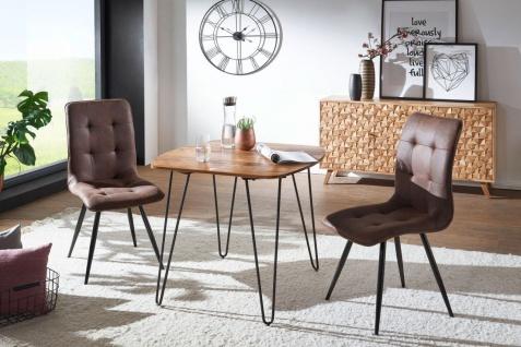Esszimmertisch Tisch GANAN 80x80x76 cm Massivholz Sheesham