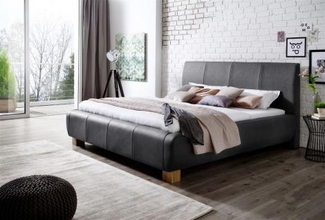 Polsterbett Bett Doppelbett Tagesbett - MODENA- 180x200 cm Anthrazit