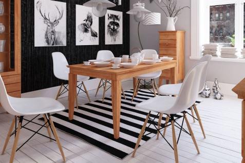 Esstisch Tisch ausziehbar LENNES Wildeiche geölt Natur 120/165x100 cm