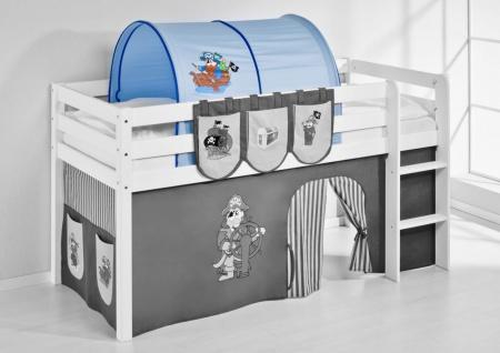 Tunnel Pirat Blau - für Hochbett. Spielbett und Etagenbett