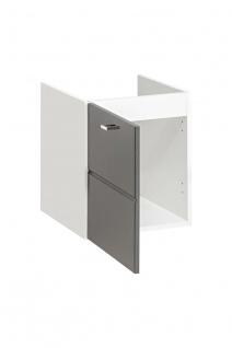 Badmöbel Set 3-tlg Badezimmerset VENTO Grau HGL inkl.Waschtisch 50cm - Vorschau 3