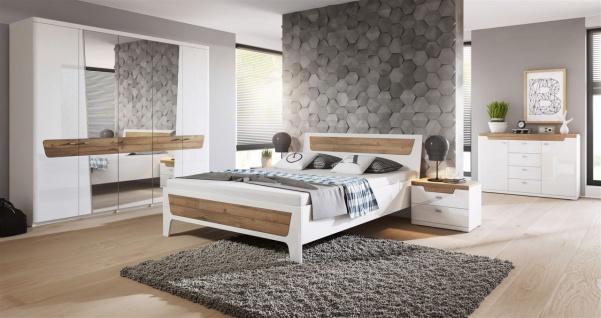 Schlafzimmer Set 5 tlg ONTARIO inkl.Doppelbett 180cm und Schrank 180cm