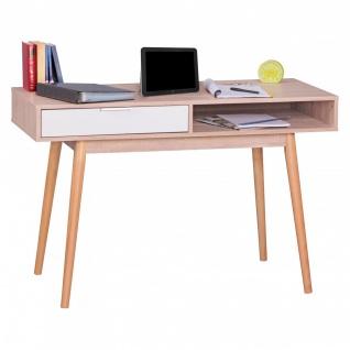 Konsole Sekretär Schreibtisch - Belimo XL - 120x79x45 cm Sonoma/Weiß