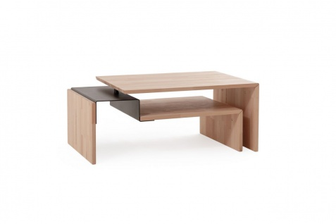 Couchtisch Tisch PARIS Wildeiche Massivholz 110x70 cm
