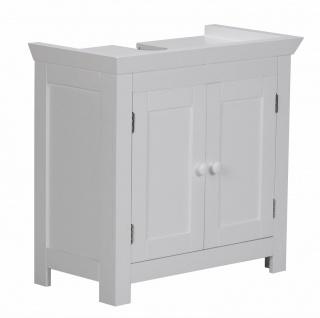 Bad Waschbecken Unterschrank - HOME - 55.5x57x30 cm 2 Türen weiß