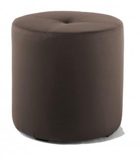 Rundhocker Sitzhocker Schminkhocker Hocker Sessel Kunstleder Braun 43 x 43 cm
