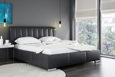 Polsterbett Doppelbett MARLON Komplettset Kunstleder Schwarz 180x200cm