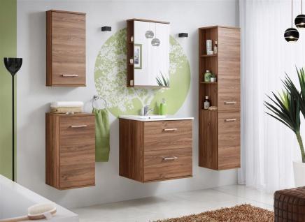 Badmöbel Set 5-tlg Badezimmerset ARMON Eiche inkl.Waschtisch 60 cm