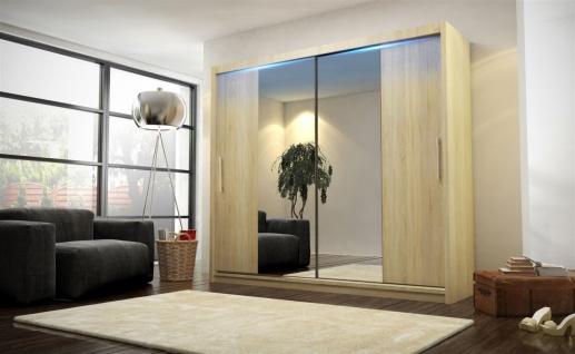 Schiebetürenschrank Schrank DOLM 04 Sonoma matt 180x213 cm inkl.LED