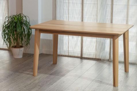 Esstisch Tisch DARWIN Kernbuche vollmassiv Echtholz 140 x 90 cm