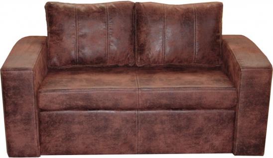 Schlafsofa Sofa SIMONE mit Schlaffunktion Gobi Vintage / Braun
