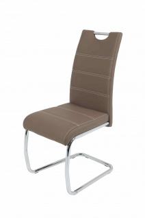 Esszimmerstühle Stuhl Freischwinger 2er Set ELENI Latte