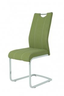 Esszimmerstühle Stühle Freischwinger 4er Set - Asta 2- Oliv