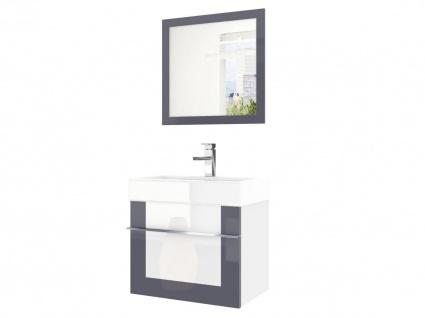 Badmöbel Set 2-tlg DAWINO Set.6 Grau-Weiss inkl.Waschtisch 50 cm