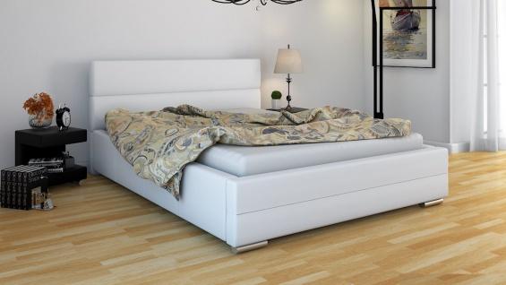 Polsterbett Bett Doppelbett PIERO 160x200cm inkl.Bettkasten