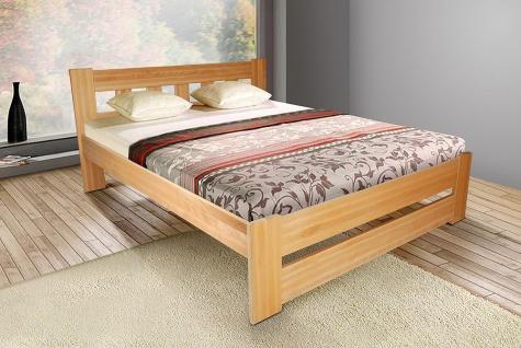 Schlafzimmerbett Bett - Bert - Buche Massiv Weiss 180x200 cm