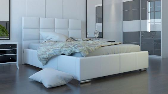 Polsterbett Bett Doppelbett SILVIO L 160x200cm inkl.Lattenrost