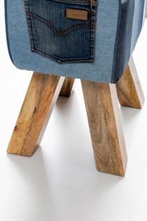 Hocker Sitzhocker Sitzbank POCKET Massivholz 40x30x47cm - Vorschau 4