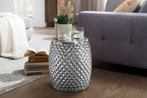 Couchtisch Beistelltisch SIRAK 32x32x42 cm rund Aluminium Silber