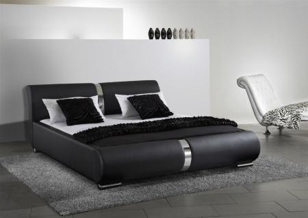 Polsterbett Bett Doppelbett DAKAR Komplettset 140x200 cm Schwarz