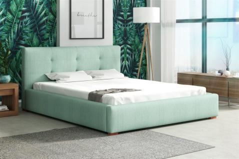 Polsterbett Bett Doppelbett TERAMO Kunstleder oder Stoff 140x200cm