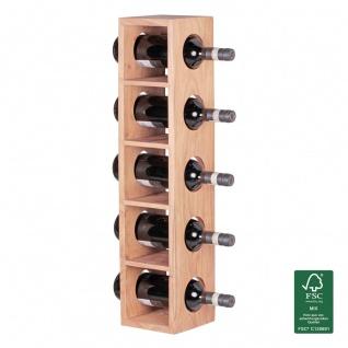 Weinregal Flaschenregal 70 cm für 5 Flaschen Massiv-Holz Akazie