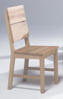 Esszimmerstühle Stuhle 2er Set Massivholz Eiche Sonoma Geölt - ERIC
