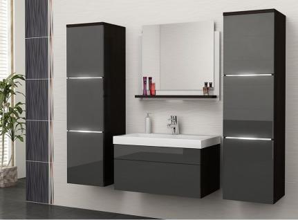 badm bel hochglanz grau online bestellen bei yatego. Black Bedroom Furniture Sets. Home Design Ideas