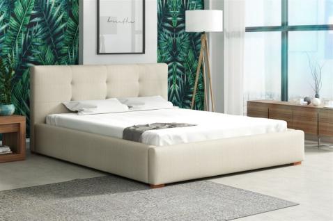 Polsterbett Bett Doppelbett TERAMO Kunstleder oder Stoff 160x200cm