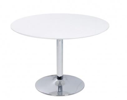 Küchentisch Esstisch Tisch - PORTO - 110x110 cm Hochglanz Weiss