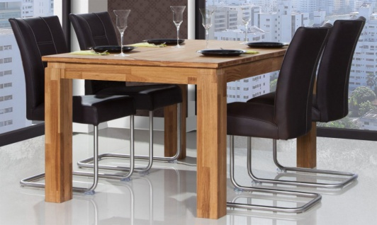 Esstisch Tisch ausziehbar MAISON Wildeiche massiv geölt 160/250x100 cm