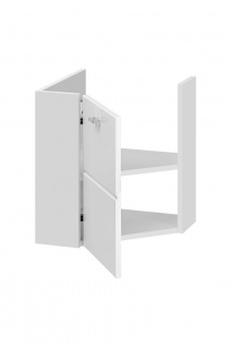 Badmöbel Set 3-tlg Badezimmerset VENTO-ECK Weiss inkl.Waschtisch 40cm - Vorschau 3