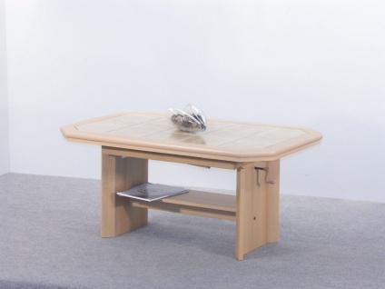 Couchtisch mit zwei Funktionen - Maxi - 115/157 x 74 cm Buche Nachbildung