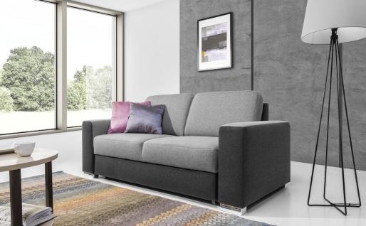 Sofa 3-Sitzer JUNES Webstoff Grau / Hellgrau 220x90x91 cm